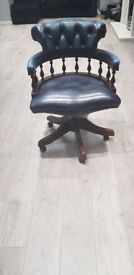 Authentic vintage Chesterfield Captains swivel chair