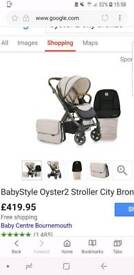 Oyster 2 pushchair city bronze limited edition