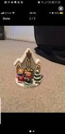 Teddies at church Christmas ornament