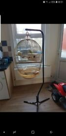 Budgie cage with stand and 18kg food