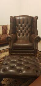 Chesterfield queen Anne Georgian chair