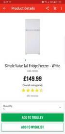 Fridge frezzer Argos simple value