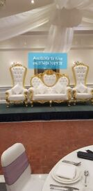 Manchester Bride and Groom Wedding Throne Chairs/Sofa Hire £140