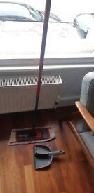 Vileda Mop including Microfibre Pad and a dustpan