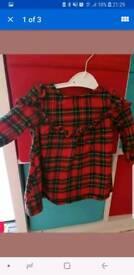 Next tartan dress 6-9 months