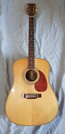 TANGLEWOOD EARTH 500 ACOUSTIC GUITAR - HAND MADE, SOLID SPRUCE