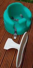 Bamboo infant seat support with a table