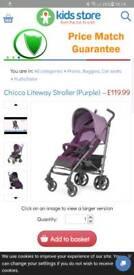 Chicco liteway purple stroller Brand New