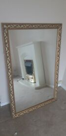 gold painted wooden framed mirror 1180mm x 780mm