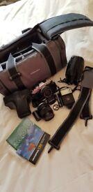 Olympus camera accessories..camera bag flash instructions batteries etc