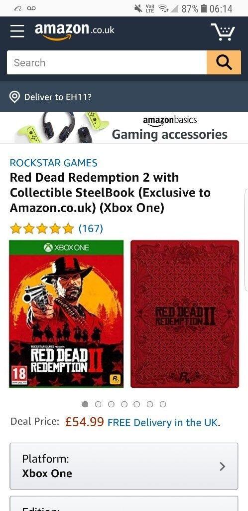 Red dead redemption 2 steel edition | in Wester Hailes, Edinburgh | Gumtree