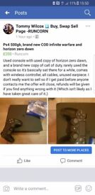 PlayStation 4 with 2 games