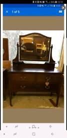 Mahogany dressing chest