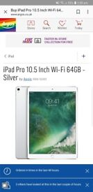 Latest ipad pro wifi and 4g 64gb 10.5 brand new and sealed, swap for 125cc cruiser or trike project