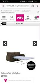 Rebecca Brown fabric guest sofa bed