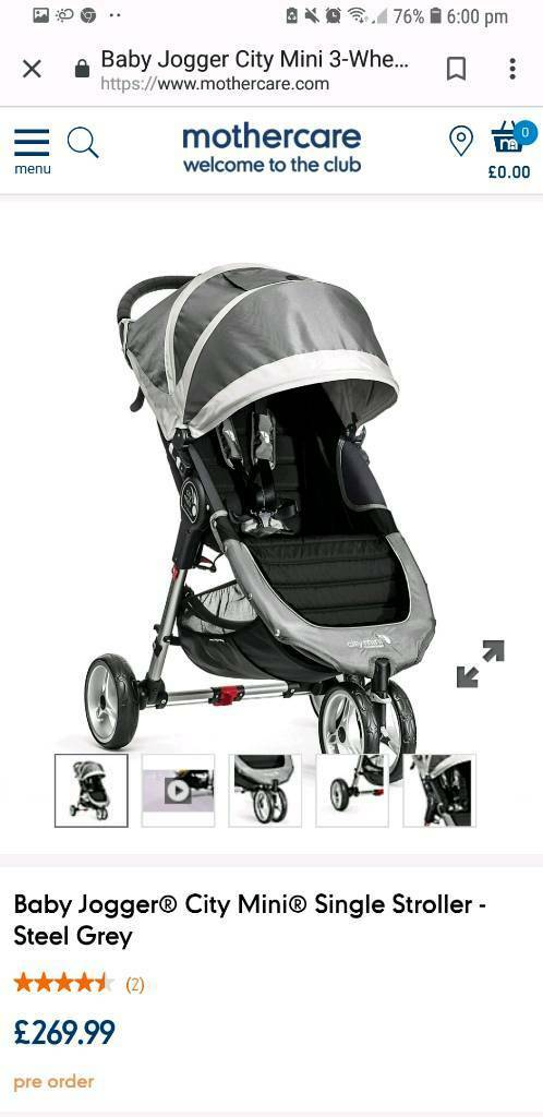 Baby Jogger City Mini Single Stroller Steel Grey In Wimborne Dorset Gumtree