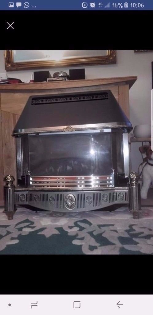 Baxi bermuda 552 coal effect fireplace with back boiler used