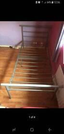 Metal single bed frames x2