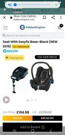 Maxi Cosi car baby seat