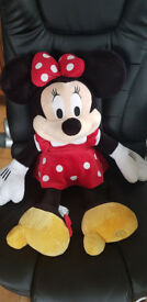 Disney Store Minnie Mouse Red Polka Dot Dress Plush Toy