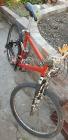 Raleigh full suspension mountain bike