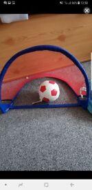 Little kids soft football and goal