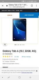 Samsung tablet 10.1 A6 32gb