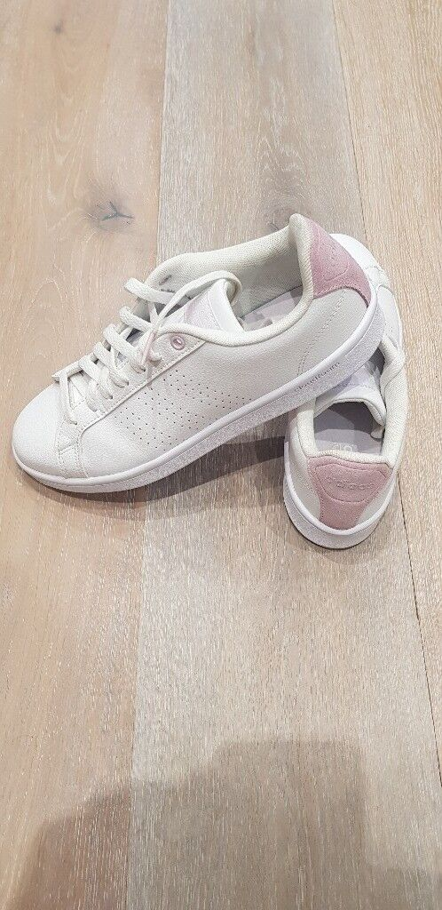 334539ee259 ... where can i buy womens size 7 trainers adidas neo cloudfoam advantage  white pink. 271cd