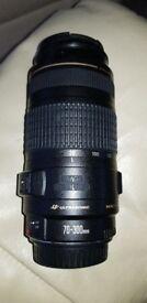 Canon zoom lens EF 70-300mm ultrasonic