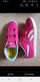 BNIB girls pink Reeboks size 6.5