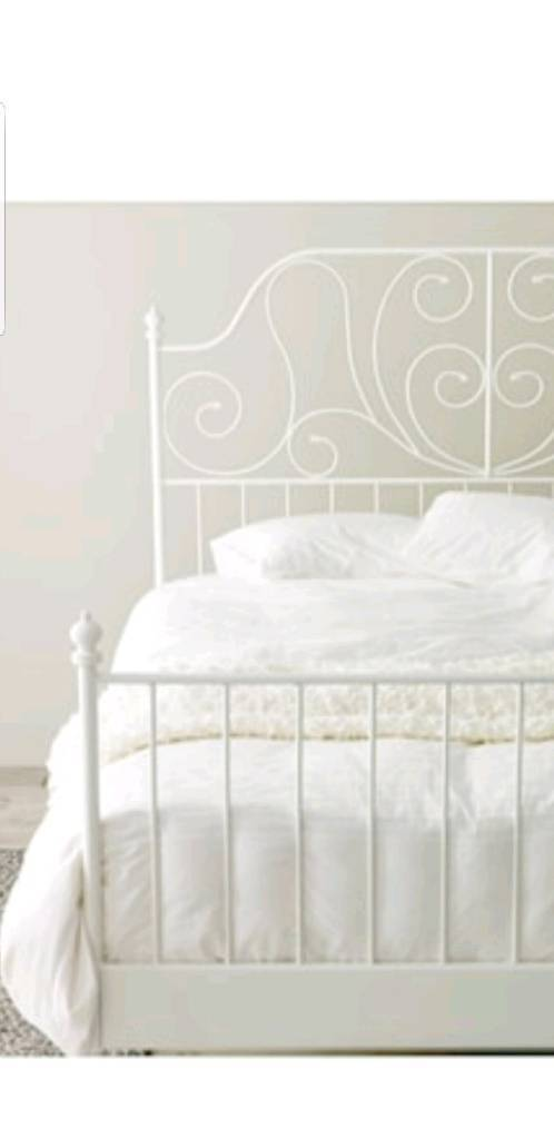 White metal bed bed frame, double | in Astley, Manchester | Gumtree