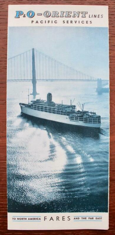 P&O ORIENT LINES UNUSUAL FARES FLYER PACIFIC SERVICES NORTH AMERICA FAR EAST