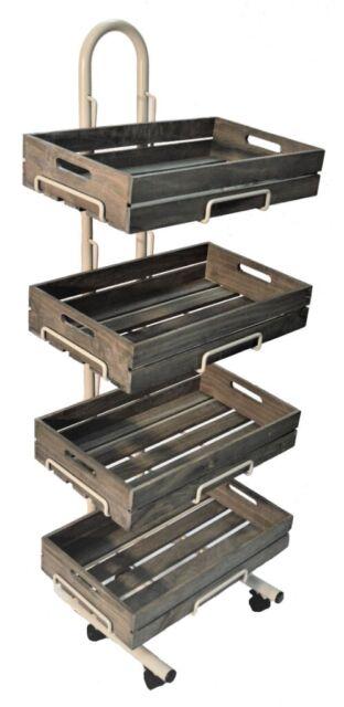 4 Tier Retail Display Stand With Vintage Style Wooden Crates In Wareham Dorset Gumtree