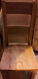 Brand New. Solid Oak Horizontal Slatted Back Dining Chair