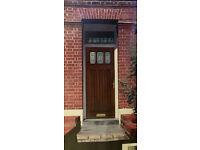 """New Exterior Oak Finish door 1981 x 838 x 44mm (78 x 33 x 13/4"""")"""