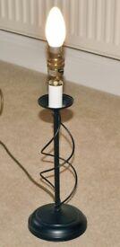 Black metal lamp base