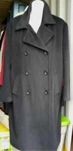CALVIN KLEIN $2200 ANGORA COAT 16 Large XL Long Winter Jacket Soft Womens Ladies ADD-ON FUR COLLAR