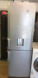 BEKO FROST FREE FRIDGE FREEZER IN SILIVER WITH WATER DESPENSER