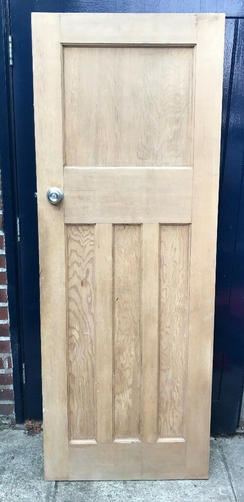 2 x 1920s original 4 panel pine interior doors dipped u0026 waxed - £30 & 2 x 1920s original 4 panel pine interior doors dipped u0026 waxed - £30 ...