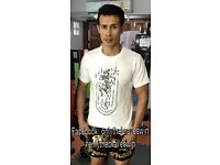 Thai Boxing Tattoo Art T Shirt - a real fighter with Yantra writing