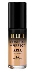 Milani Conceal And Perfect 2 In 1 Foundation And Concealer - Sand Beige 30ml