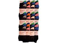 Wholesale Socks at a Bargain Price: Ladies/Women 50 Packs (150 Pairs) Natural Cotton Socks