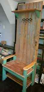 Coat Rack and Hall Bench - with a Repurposed Antique Door Peterborough Peterborough Area image 2