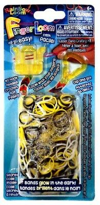 Rainbow Loom Finger Loom Rubber Band Crafting Kit [Yellow] ()