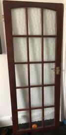 Wooden/glass door