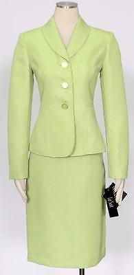 LE SUIT Lime Sz 8 Women's Skirt Suit $200 New