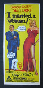 I-MARRIED-A-WOMAN-1958-Orig-movie-poster-Diana-Dors-Gobel-Menjou-Aussie-daybill