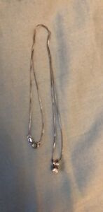 Diamond necklace with white gold chain