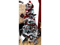 Christmas tree - synthetic - and decorations