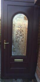 Mahogany pvc front door